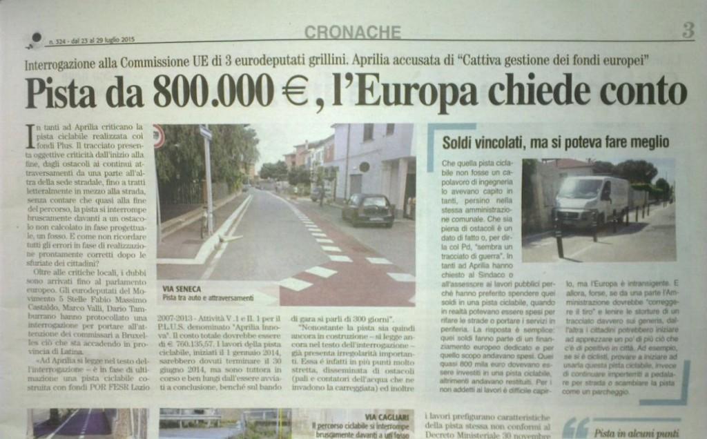 Ciclabile da 800mila euro