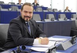 Portraits of MEP Fabio Massimo CASTALDO in Strasbourg